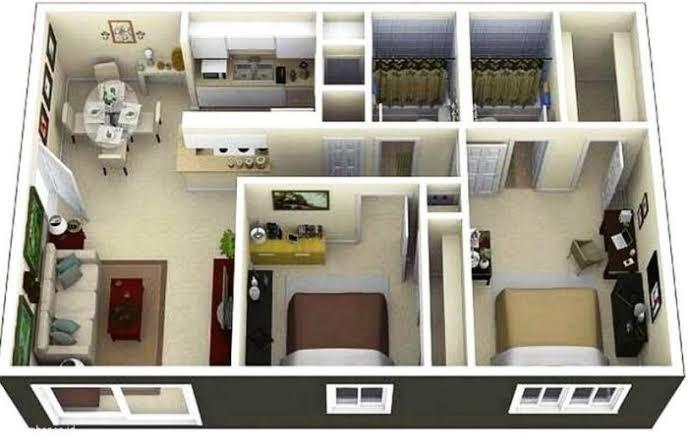Desain Rumah Minimalis Modern 1 dan 2 Kamar