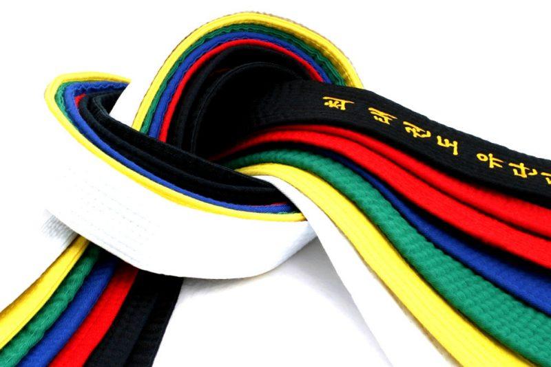 Jenis jenis sabuk taekwondo