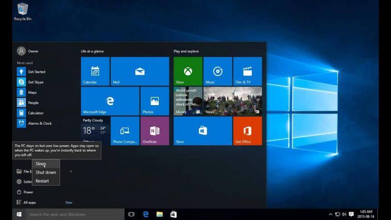 Turn of Komputer di windows 10