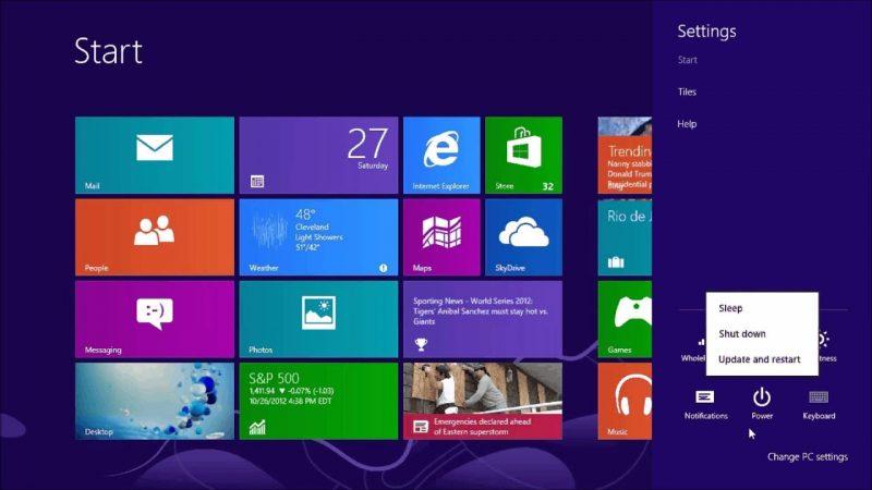 Mematikan Komputer Windows 8